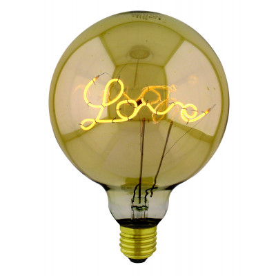 Light Bulb Curved Up Love Maxi | Gold