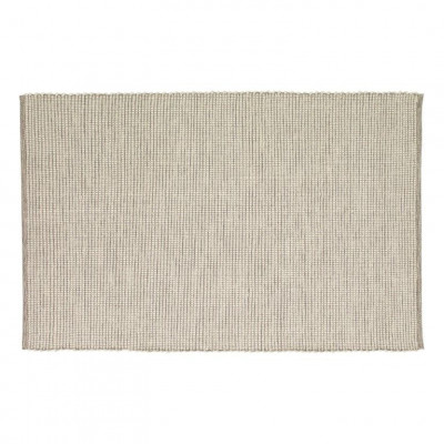 Woven Rug in Cotton | Grey/White