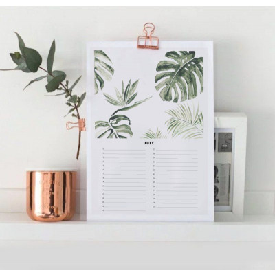 Birthday Calender A4 | Botanic