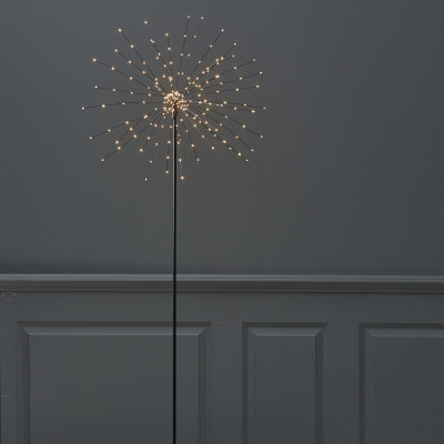 Weihnachtslichter | Stehender Stern Feuerwerk Schwarz
