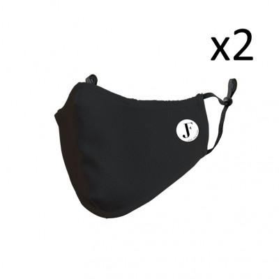 2er-Set Gesichtsmaske Spirit A | Schwarz