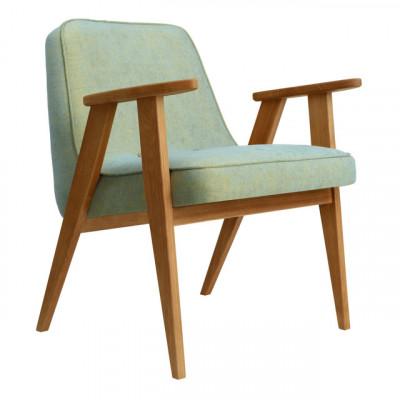 Sessel 366 Loft | Natürliche Eiche & Olivgrün