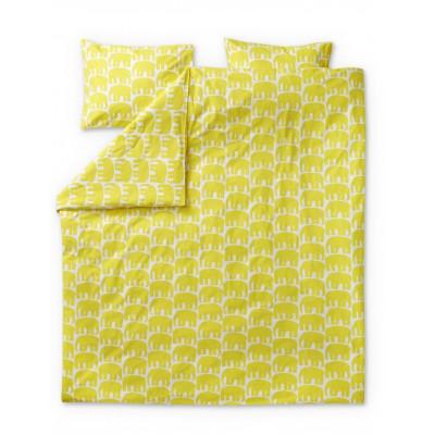 Double Duvet Cover Set Elefantti | Yellow