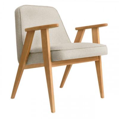 Sessel 366 Tweed | Natürliche Eiche & Gestein Grau