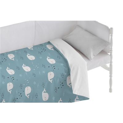 Bettbezug für Kinderbett Deep I Blau 100x120 + 50x30 cm