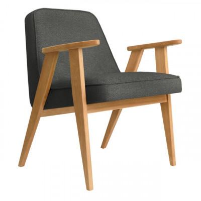 Sessel 366 Tweed | Natürliche Eiche & Schwarz
