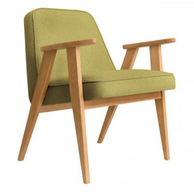 Sessel 366 Tweed | Natürliche Eiche & Gelb