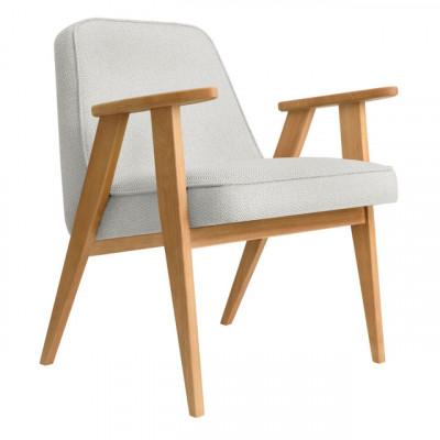 Sessel 366 Tweed | Natürliche Eiche & Weiß
