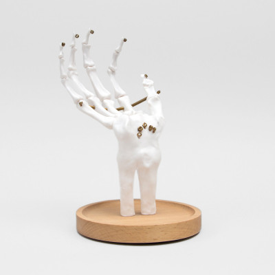 Juwelenhalter Skelett | Weiß