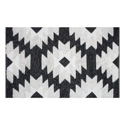 Teppich AFR 01 | Schwarz, Weiß