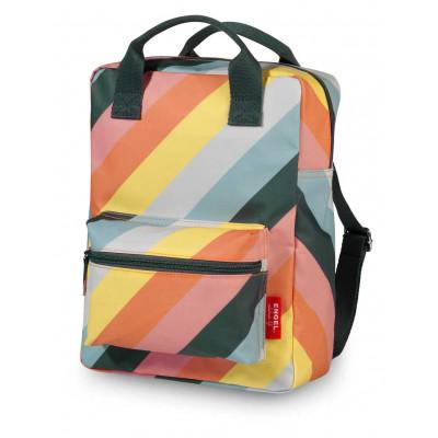 Rucksack Medium | Streifen-Regenbogen