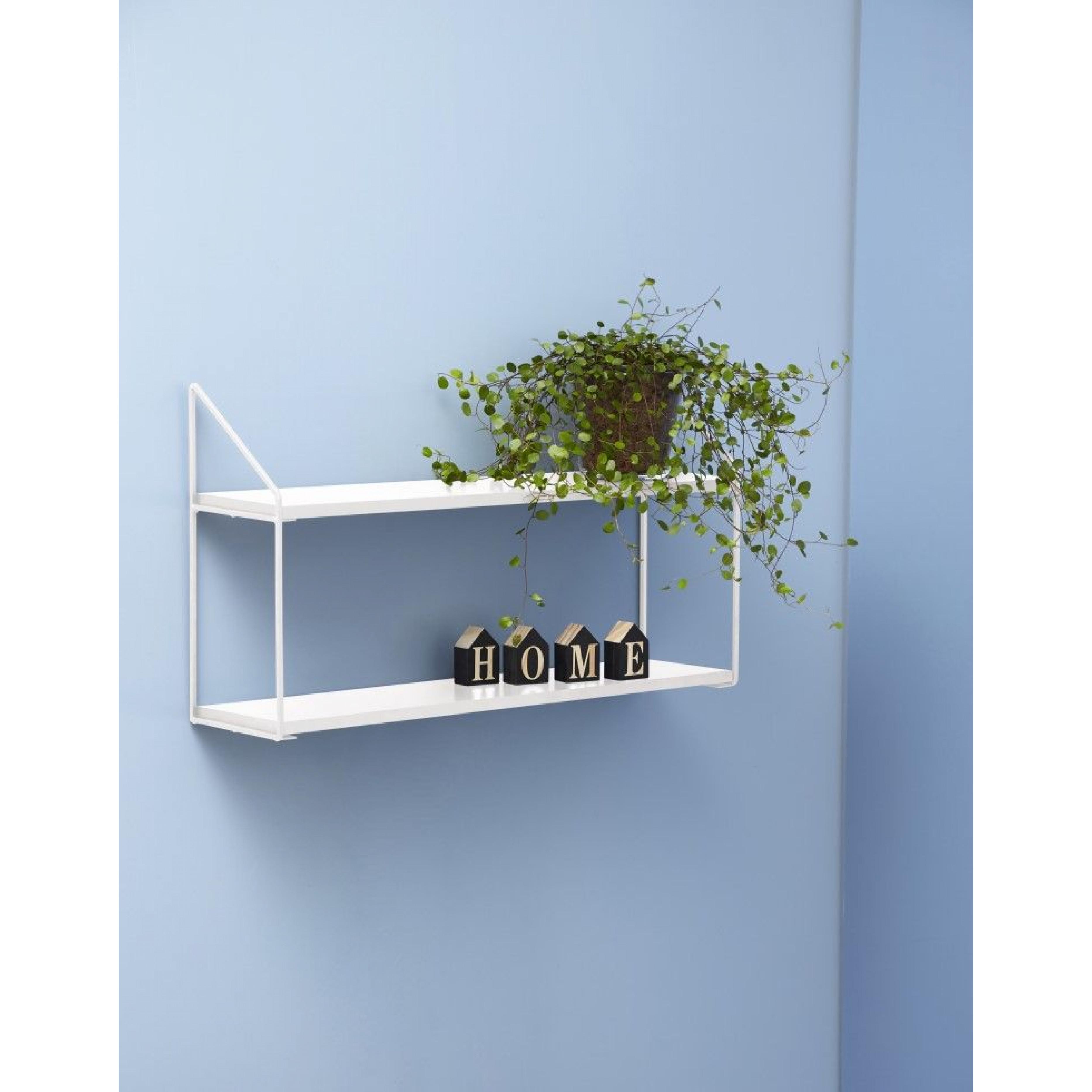 Wall Rack 2 Shelves | White