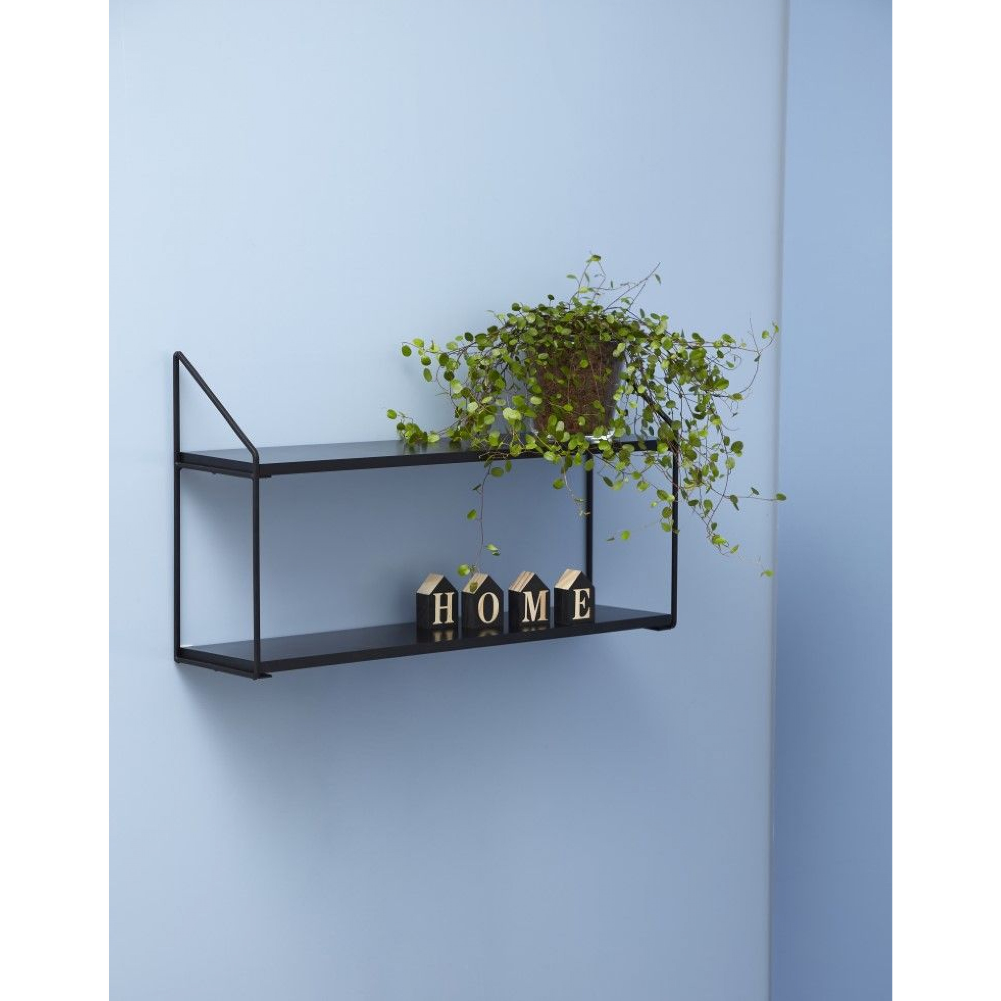 Wall Rack 2 Shelves | Black