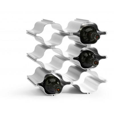 3-er Set Aluminium Wein-Regale Hex