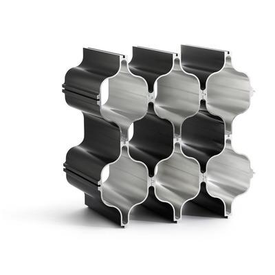 3-er Set Aluminium Wein-Regale Hex | Schwarz