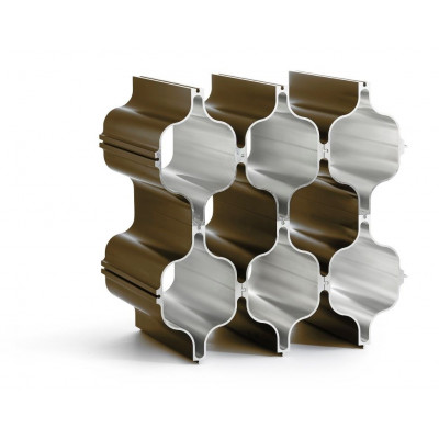 3-er Set Aluminium Wein-Regale Hex | Bronze