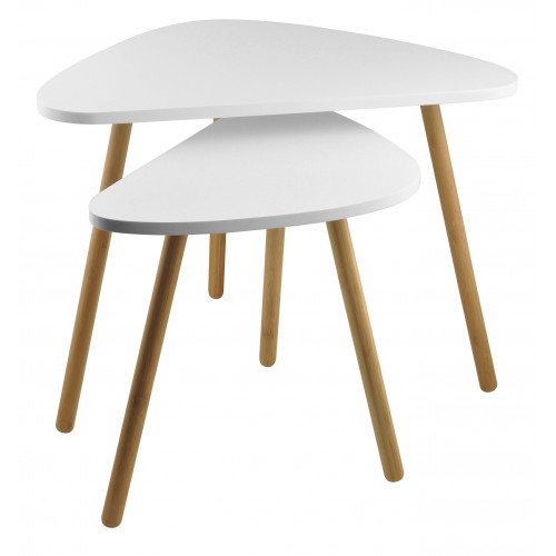 Side Tables Set of 2 | White
