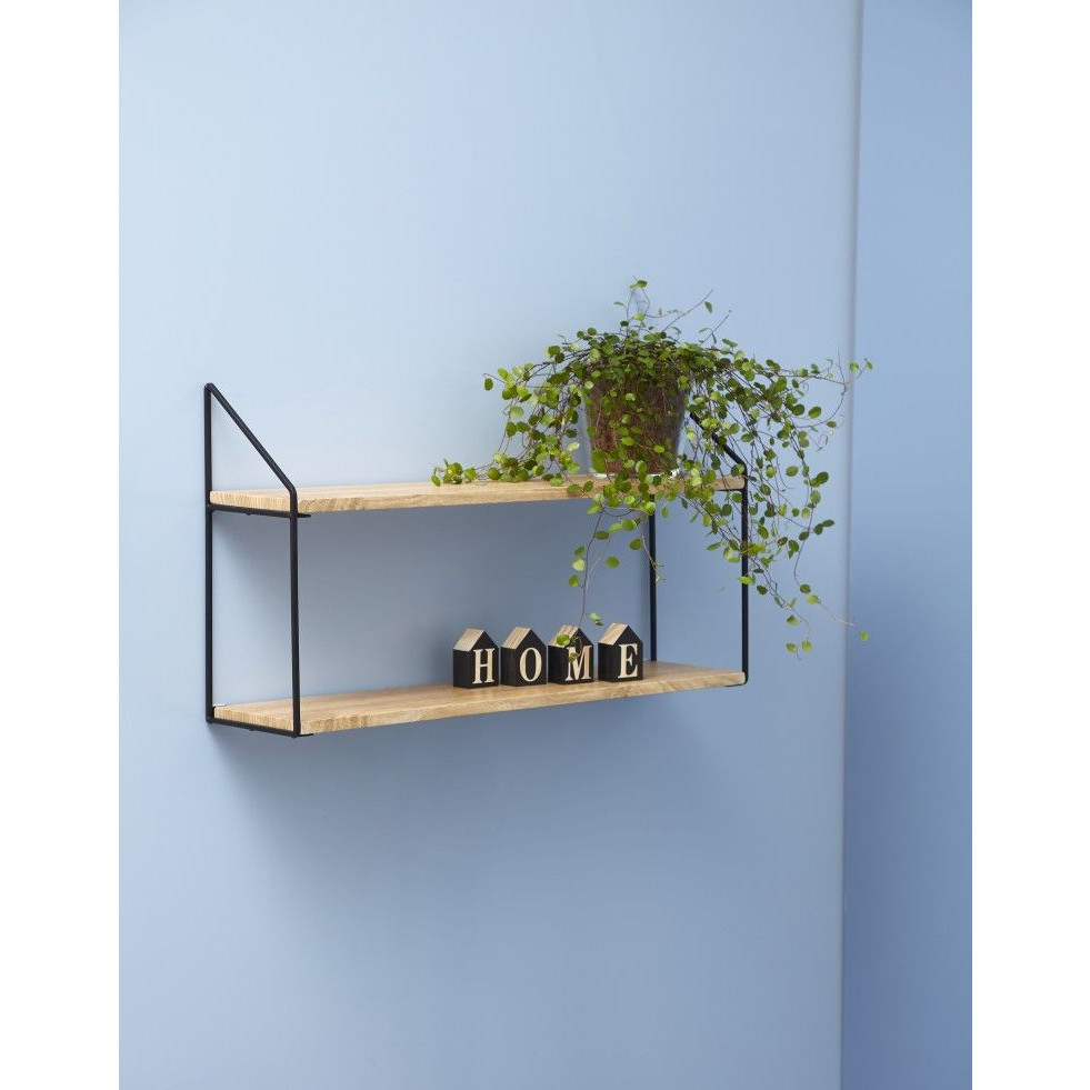 Wall Rack 2 Shelves | Natural