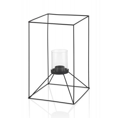 Kerzenhalter | Schwarz & Transparant