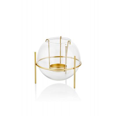 Kerzenhalter | Gold & Transparant