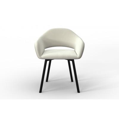 Stuhl Oldenburg | Creme-Samt Touch
