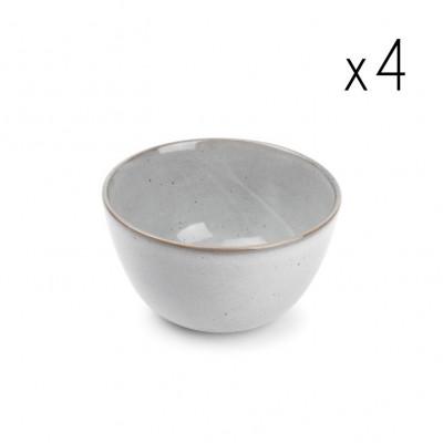 4er-Set Schüssel Freckles 16xH10cm | Grau
