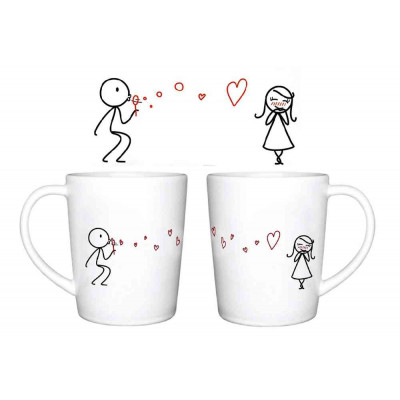 Love Bubble   Set of 2 Cups