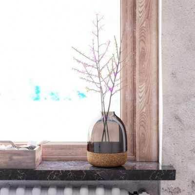 Pitaro Vase | Rauchglas-Finish