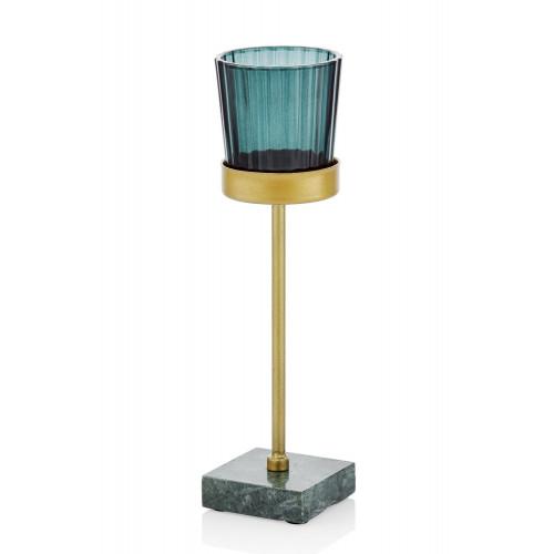 Kerzenhalter | Gold & Blau
