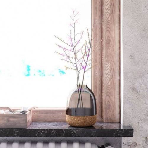 Pitaro Vase   Rauchglas-Finish