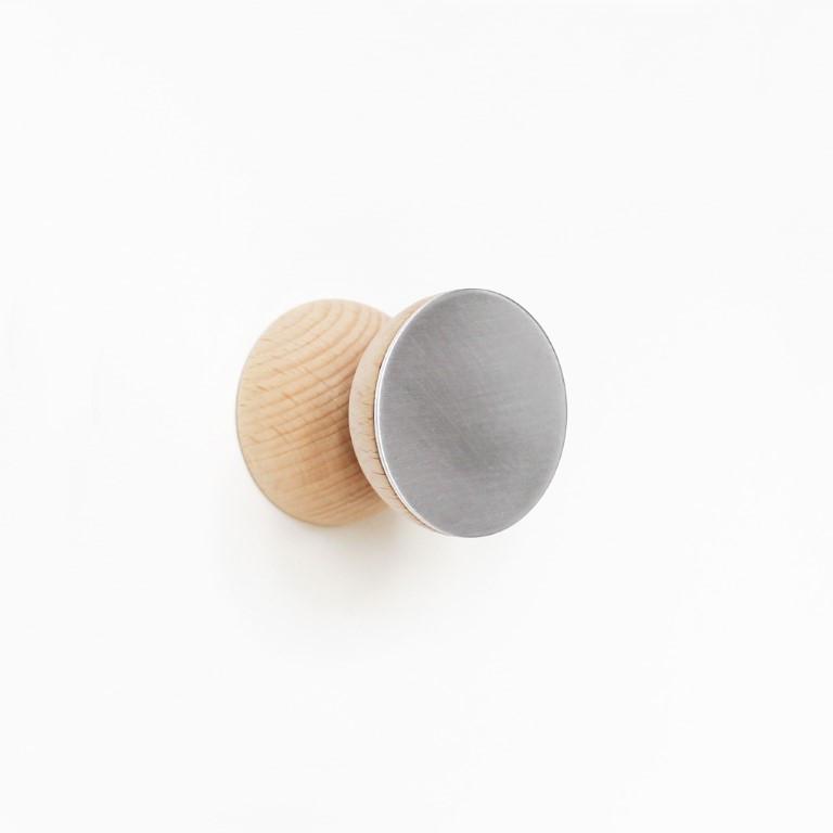 Doppelwandhaken   Buche Holz & Aluminium