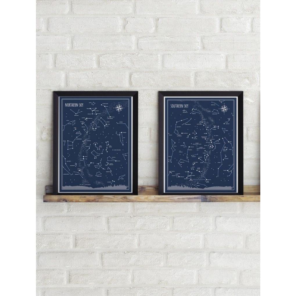 Poster Südhimmel   Blau