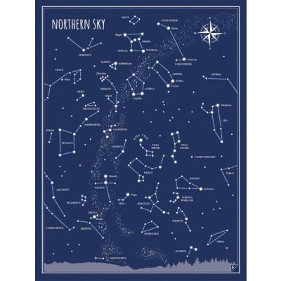Poster Nordhimmel | Blau