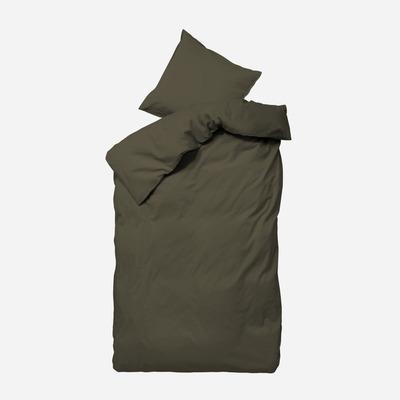 Einzelner Bettbezug mit Kopfkissenbezug 60 x 63 Ingrid   Braun