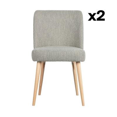2-er Set Stühle Force | Grau