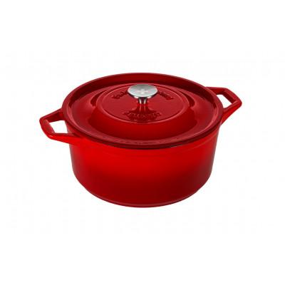 Casserole | Cast Iron | 28 cm | Red