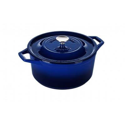 Kasserolle | Gusseisen | 28 cm | Blau