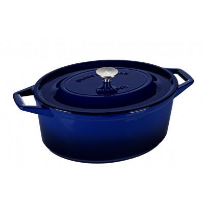 Casserole | Cast Iron | Oval 29 cm | Blue