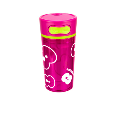 Trinkbecher mit Push-Funktion   Knalliges Pink