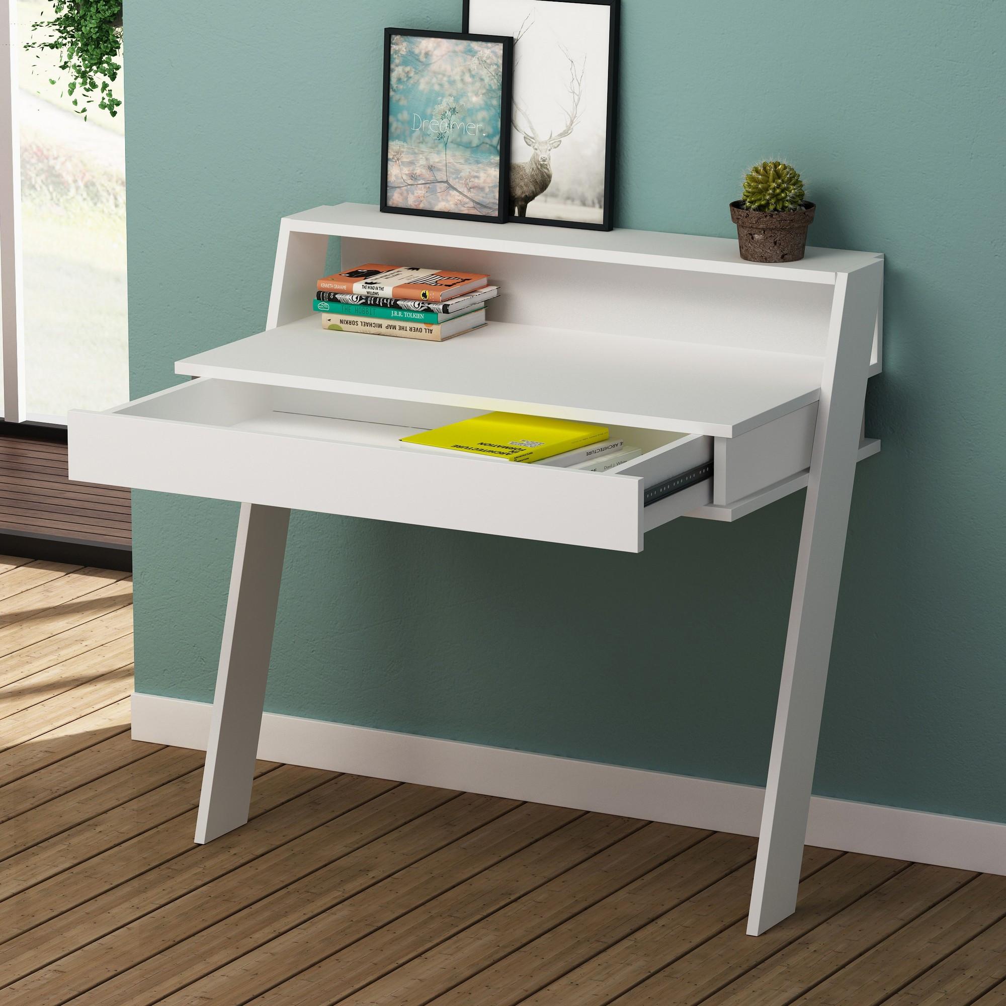 Study Desk Cowork   White