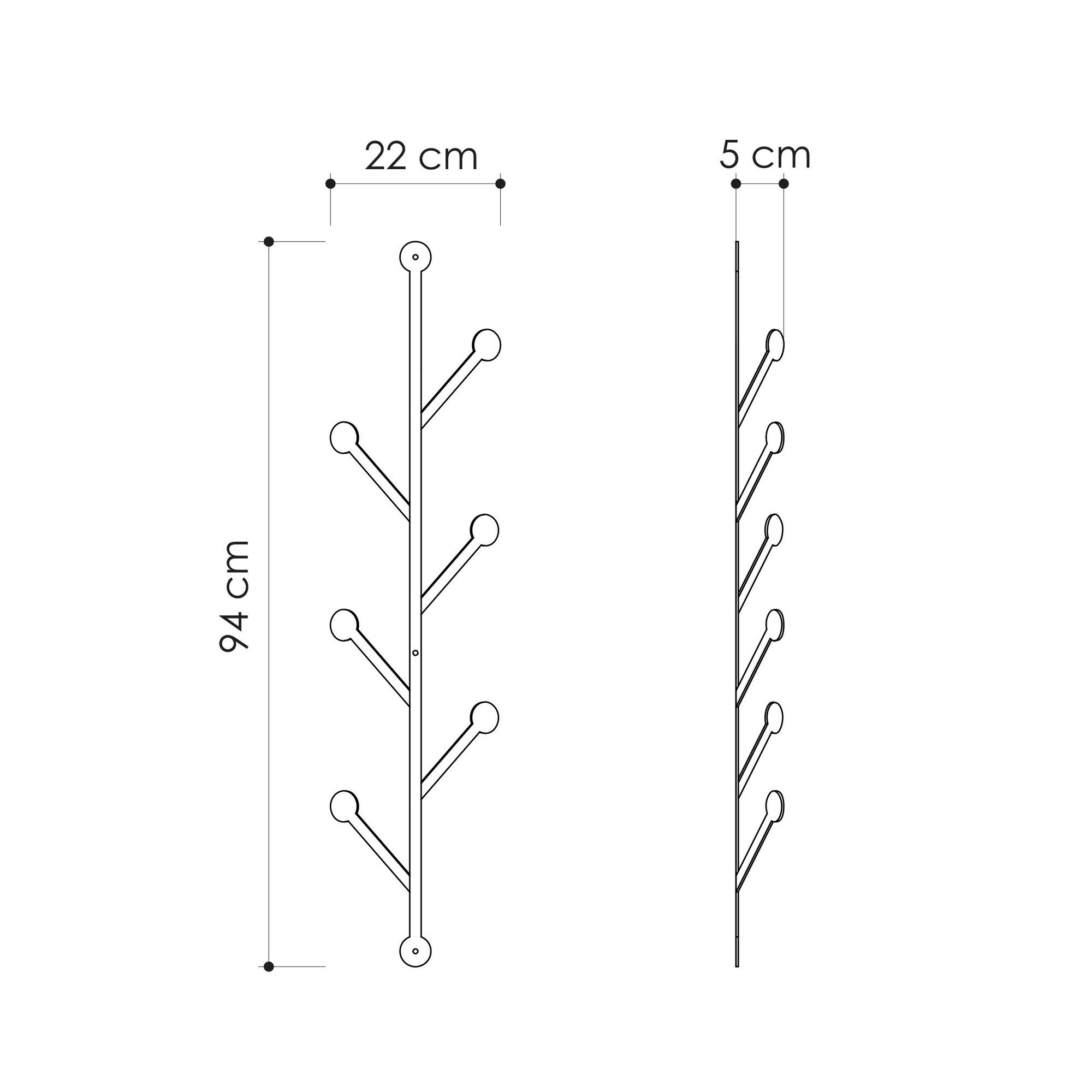Metallwandhaken Ponpon | Schwarz
