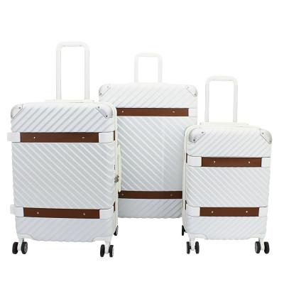 3-Teiliges Trolley-Set ABS mit TSA-Schloss Milano   Weiß