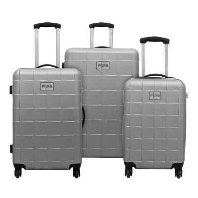 3-Teiliges Trolley-Set ABS Wave 3.0 mit TSA-Schloss   Silber