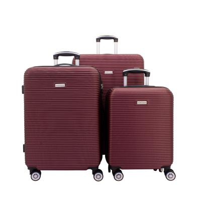 3-Teiliges Trolley-Set ABS mit TSA-Schloss Richmond 2.0   Burgundy