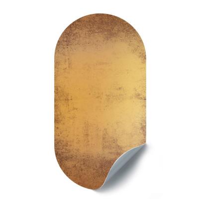 Magnetische Aufkleber Oval | Vintage Gold