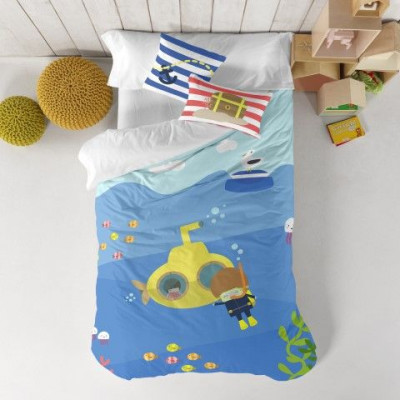 Duvet Cover 140 x 200 cm & Pillow 40 x 40 cm   Yellow Submarine