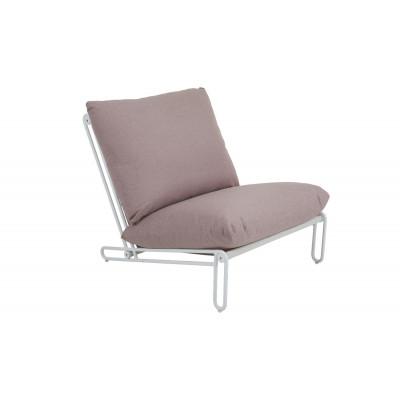 Outdoor-Sessel/Sofa Blixt | Weiß & Rosa