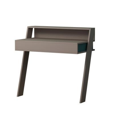 Schreibtisch Cowork | Heller Mokka / Türkis
