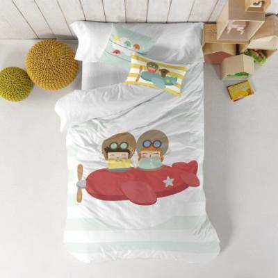 Duvet Cover 140 x 200 cm & Pillow 40 x 40 cm   Learning to Fly