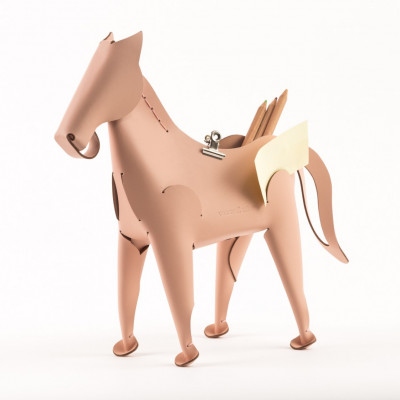 Schreibtischorganisator Pferd | Rosa